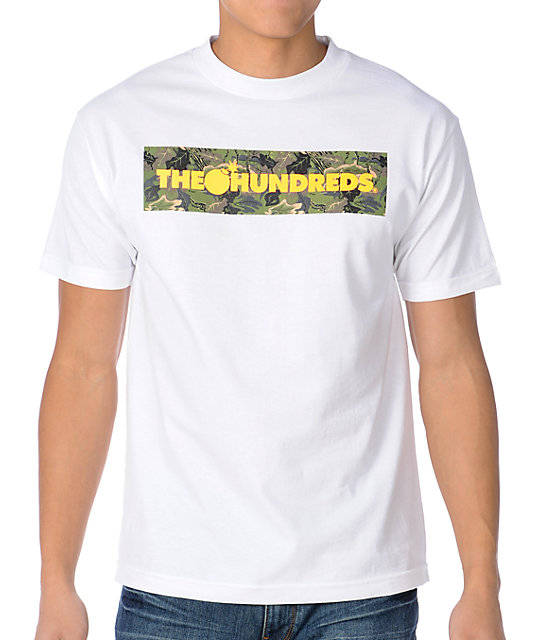 The Hundreds Camo Corners White T-Shirt