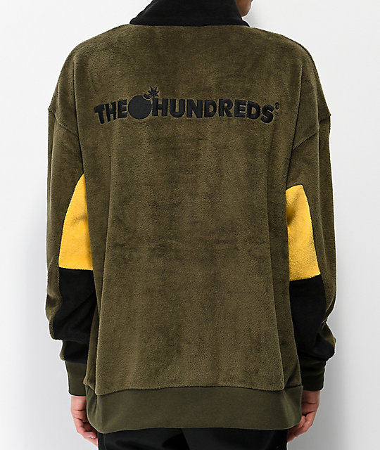 The Hundreds Canyon Olive Fleece Jacket
