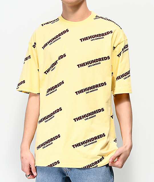 The Hundreds Card camiseta amarilla