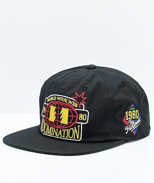 The Hundreds Champs Black Snapback Hat