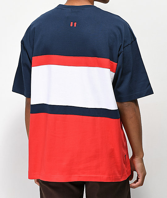 The Hundreds Club Navy & Red T-shirt