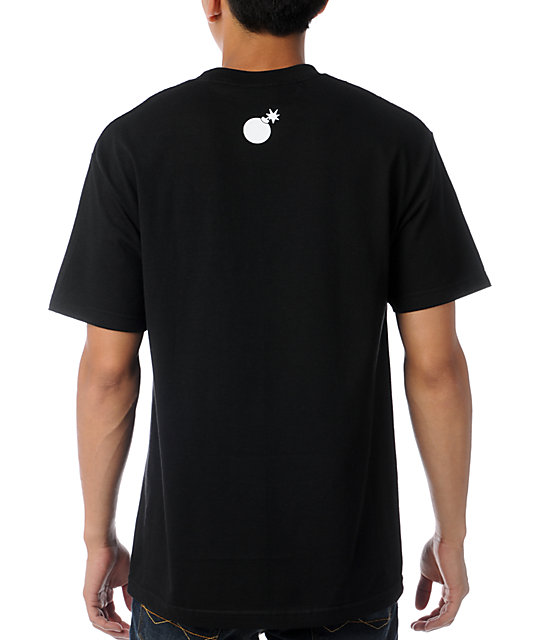 The Hundreds Corners Gradient Black T-Shirt