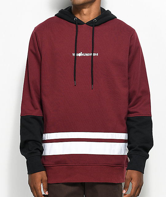 The Hundreds Crane Burgundy & Black Hoodie