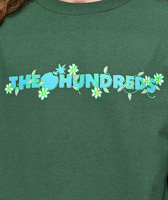 The Hundreds Daisy Bar camiseta verde de manga larga