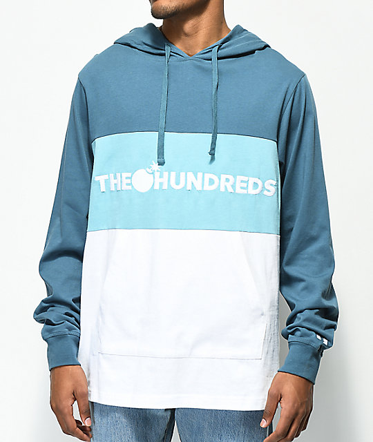 The Hundreds Deck Blue & White Colorblock Hoodie