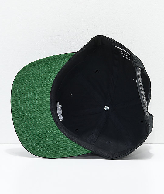 The Hundreds Die Black Snapback Hat