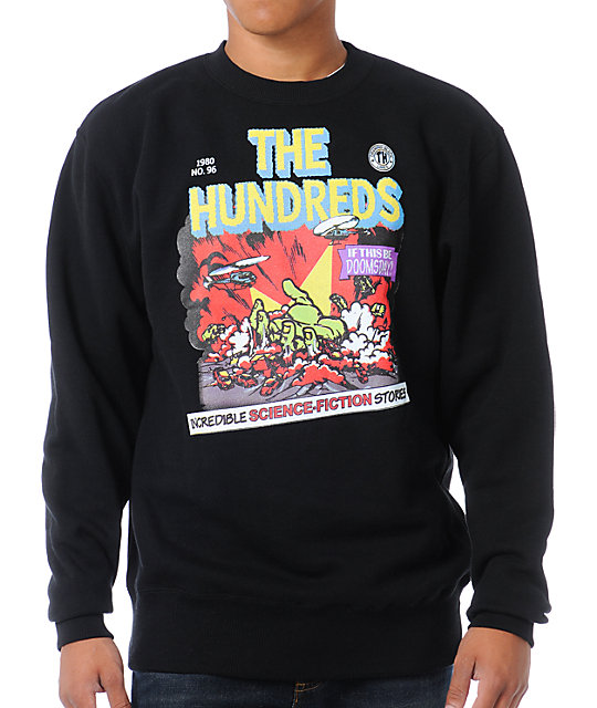 The Hundreds Doomsday Crew Neck Black Sweatshirt