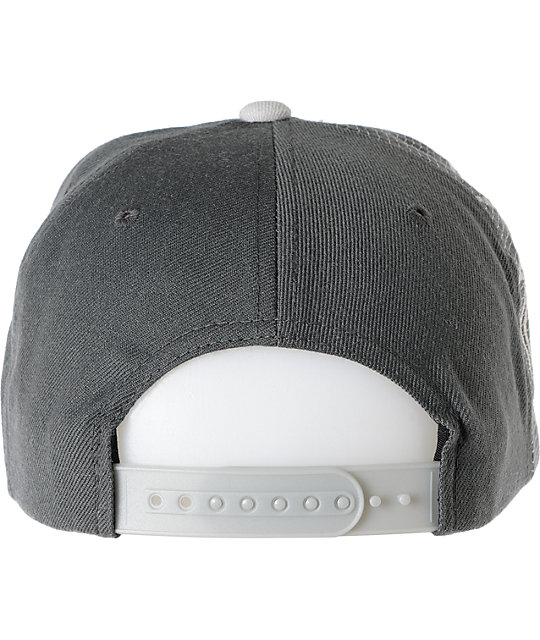 The Hundreds Draft Grey Snapback Hat