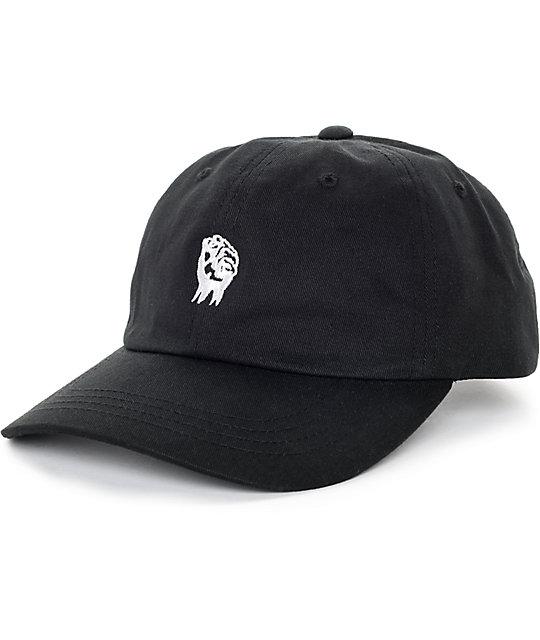 96cf8aca The Hundreds Fist Black Strapback Hat