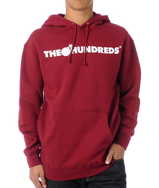 The Hundreds Forever Bar Burgundy Pullover Hoodie | Zumiez