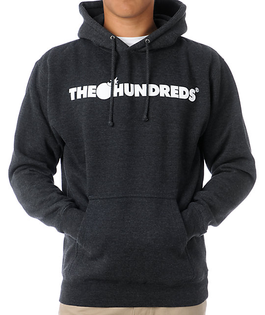 9788824ede9f The Hundreds Forever Bar Charcoal Pullover Hoodie