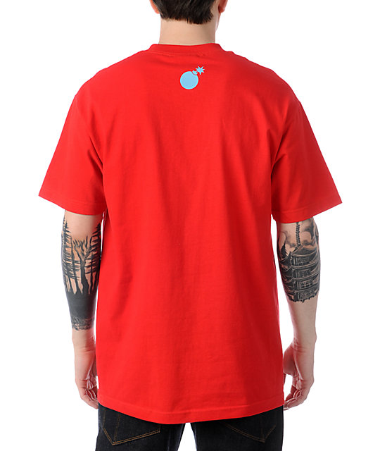 The Hundreds Forever Bar Logo Red T-Shirt