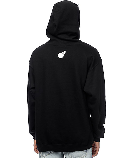03271553 The Hundreds Forever Slant Black Pullover Hoodie | Zumiez