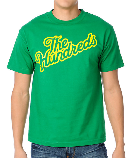 The Hundreds Forever Slant Logo Green T-Shirt