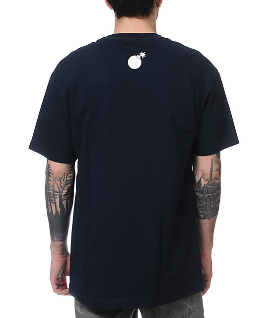 The Hundreds Forever Slant Navy T-Shirt