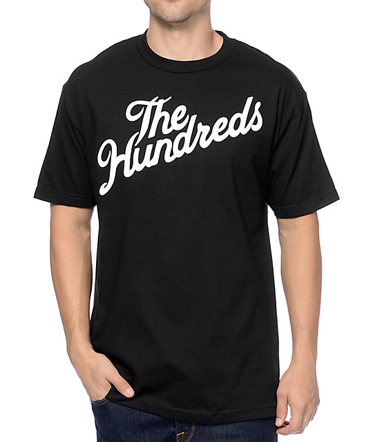 The Hundreds Forever Slant camiseta en negro