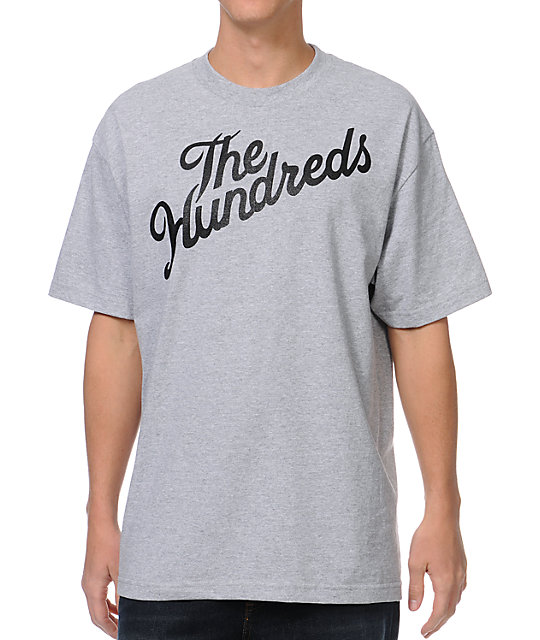 The Hundreds Forever Stop It Slant Heather Grey T-Shirt
