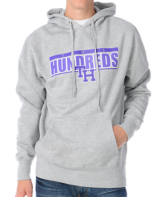 The Hundreds Form Grey Pullover Hoodie
