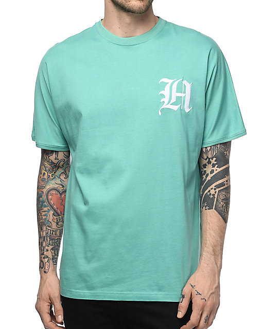 The Hundreds Grand camiseta en color turquesa