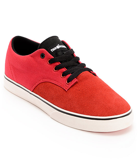 The Hundreds Johnson Low Red Canvas Shoes