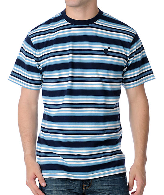The Hundreds Kopps Striped Blue T-Shirt
