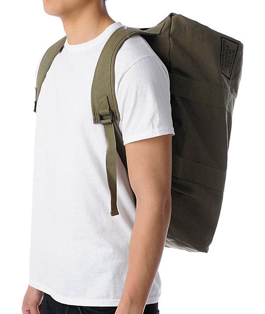 The Hundreds Load Olive Canvas Duffel Bag