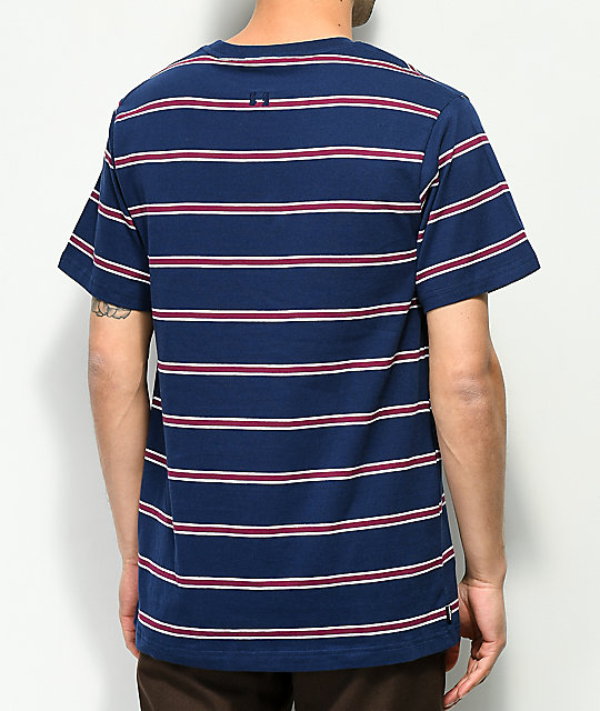The Hundreds Mazo Navy Stripe T-Shirt