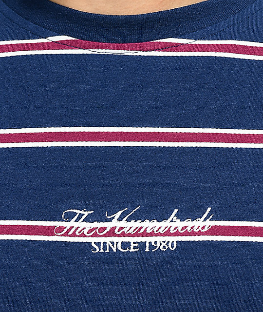 The Hundreds Mazo camiseta rayada azul marino