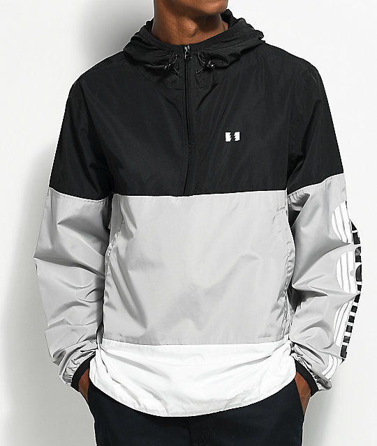 The Hundreds Overland Black Anorak Jacket