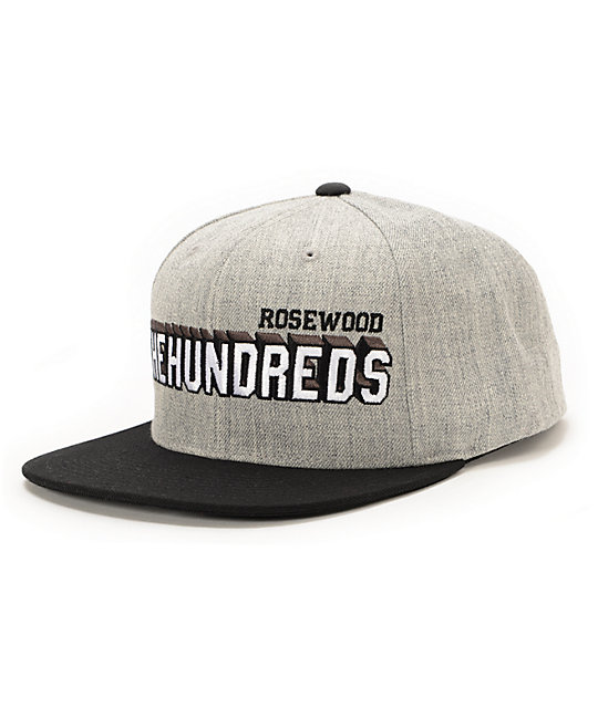 The Hundreds Overtime Heather Grey Snapback Hat