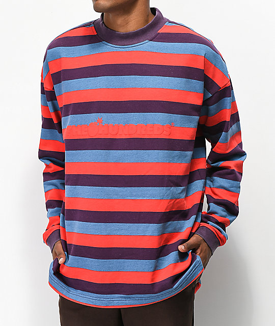 The Hundreds Park Purple & Red Sweater