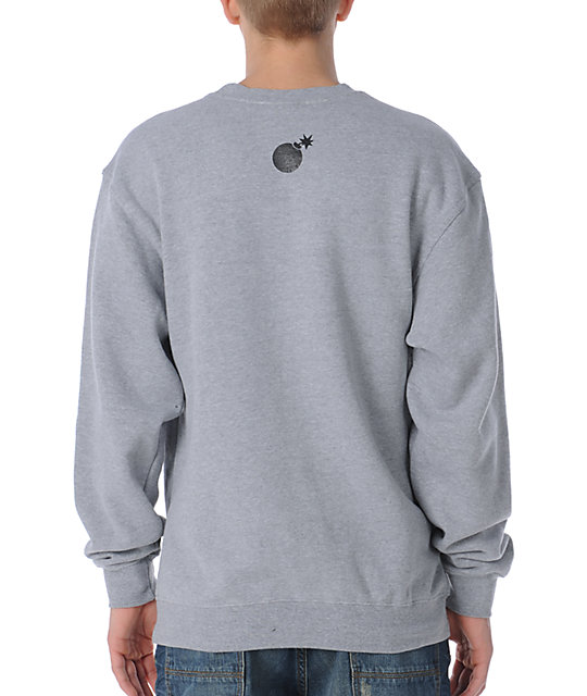 The Hundreds Pattern Square Grey Crew Neck Sweatshirt