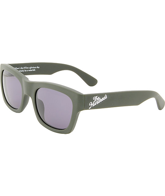 f55597942aed The Hundreds Phoenix Matte Green Sunglasses