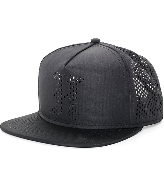 f26e706beeb The Hundreds Pine Black Mesh Snapback Hat