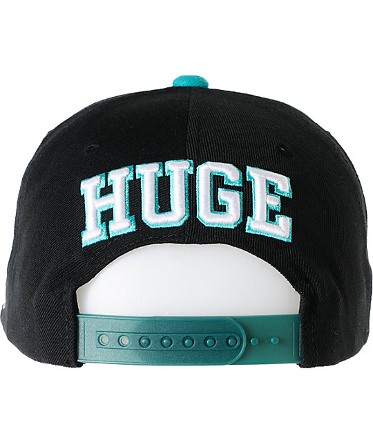 The Hundreds Player Black & Teal Snapback Hat