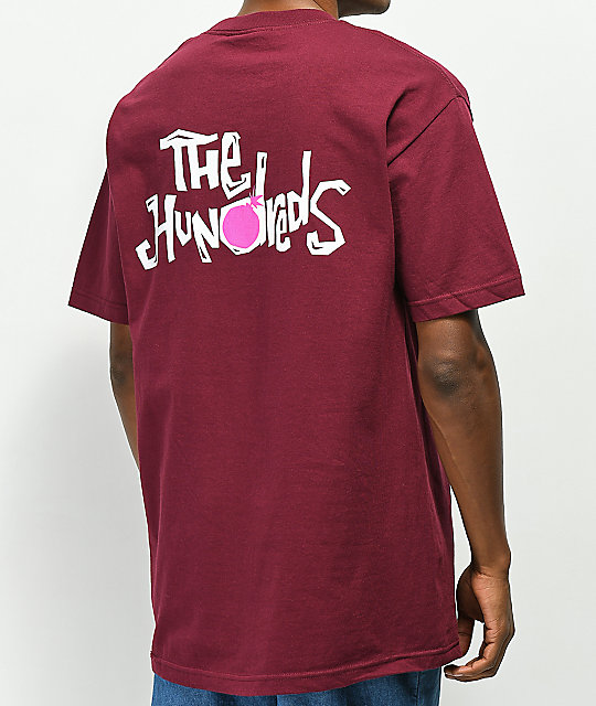 The Hundreds Poetry camiseta borgoña
