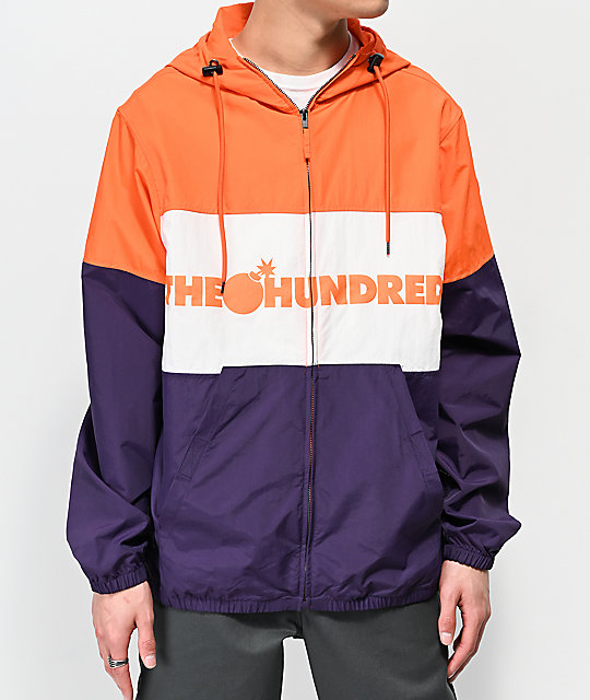 The Hundreds Port Orange, White & Purple Jacket