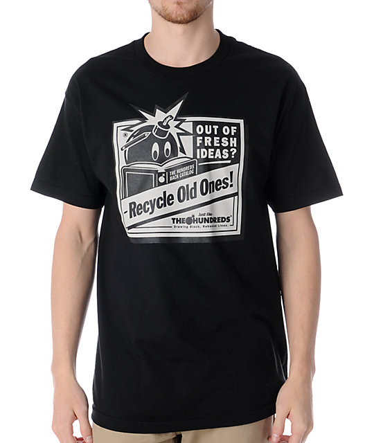 The Hundreds Recycled Black T-Shirt