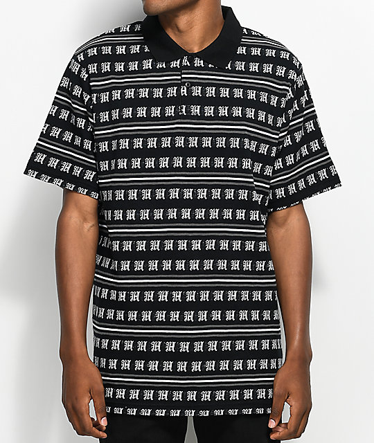 The Hundreds Rey camiseta polo en negro