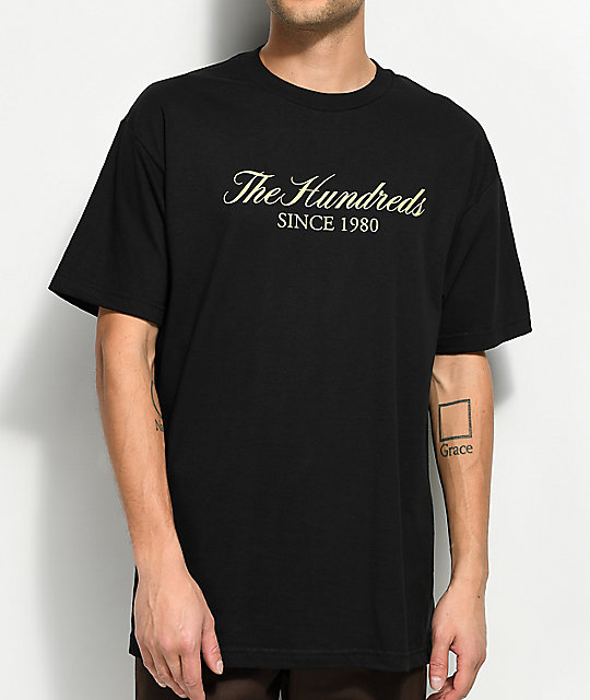 The Hundreds Rich Logo Black T-Shirt
