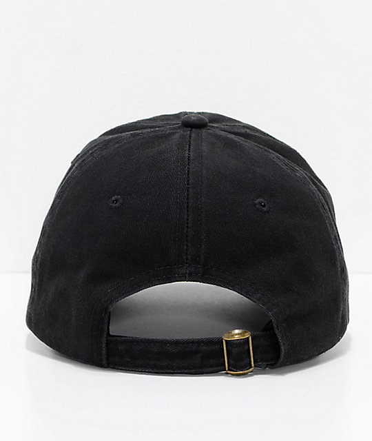 The Hundreds Romance Black Strapback Hat