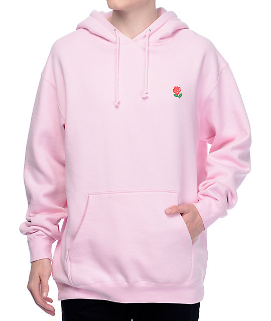 The Hundreds Rose Fill Slant Pink Hoodie