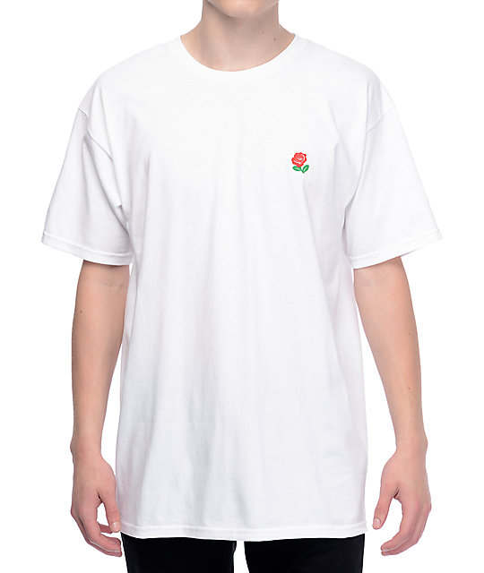 The Hundreds Rose Fill Slant White T-Shirt