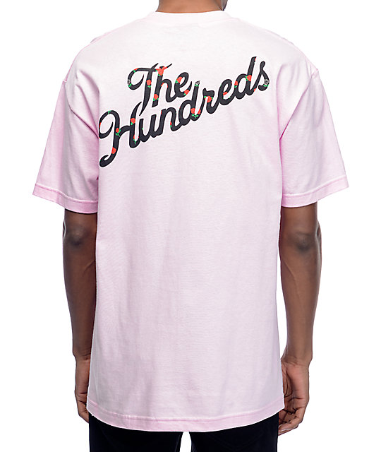 The Hundreds Rose Fill Slant camiseta rosa