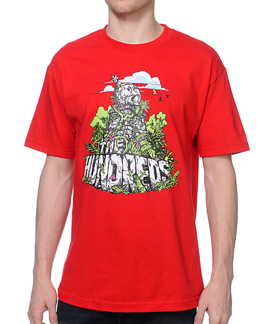 The Hundreds Ruins Red T-Shirt