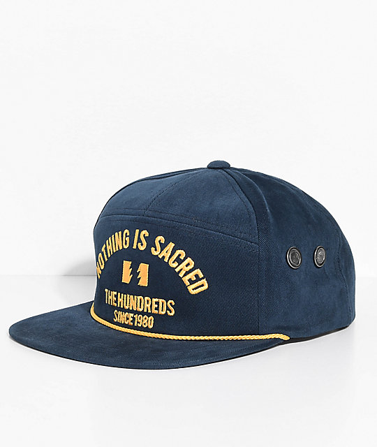 The Hundreds Save Navy Snapback Hat
