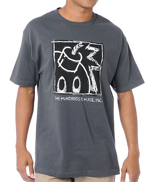 The Hundreds Scratchboard Grey T-Shirt