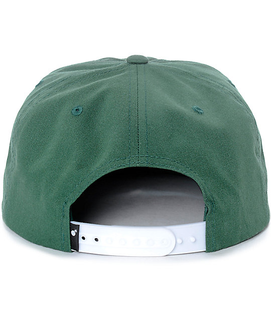 49b4be6171c ... The Hundreds Script Bistro Green Snapback Hat