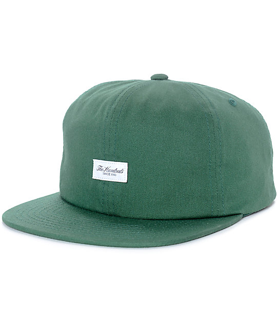 dac9c6f8cc8 The Hundreds Script Bistro Green Snapback Hat