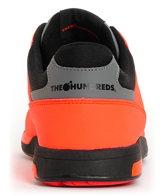 The Hundreds Scully Infra Red & Black Shoes